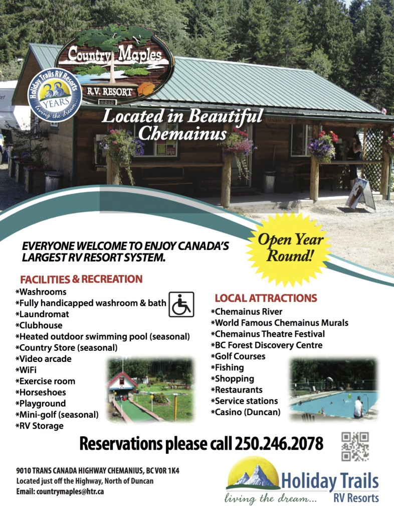 Country Maples RV Resort Arbutus RV Road with Roada