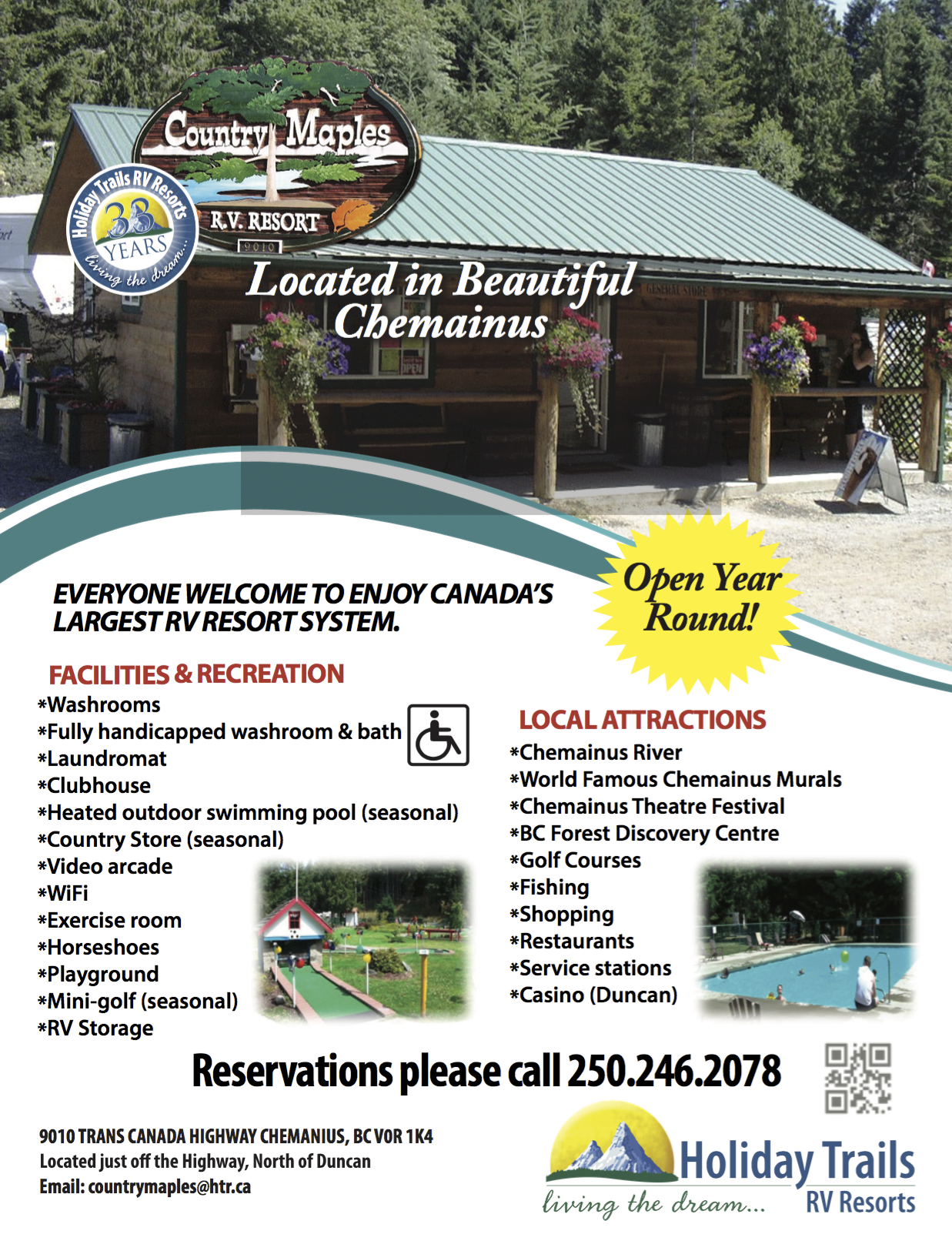 Country Maples Rv Resort In Chemainus Island Rv Guide