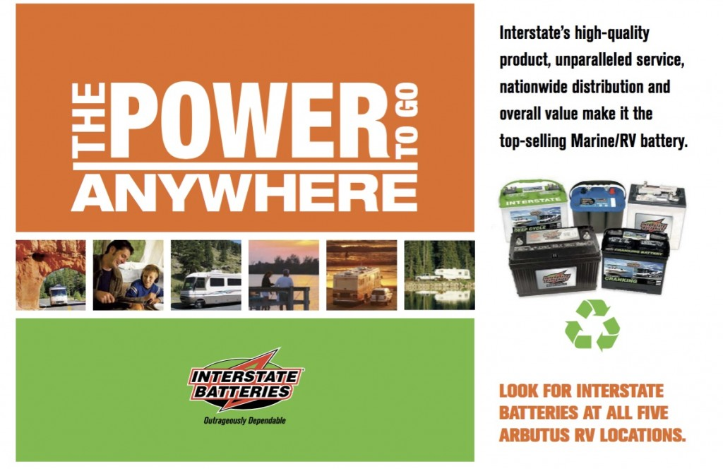 Arbutus RV Interstate Batteries ad from IRVG for O tech post
