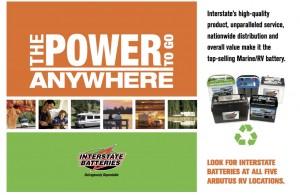 Arbutus RV Interstate Batteries