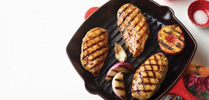 Grilled Chicken & Peaches with Balsamic Glaze
