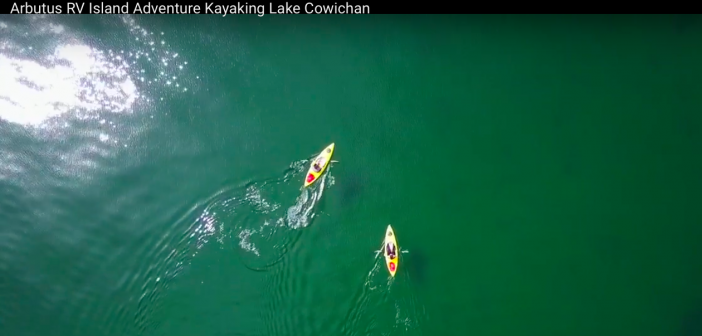 A birds-eye view of kayaking on Lake Cowichan