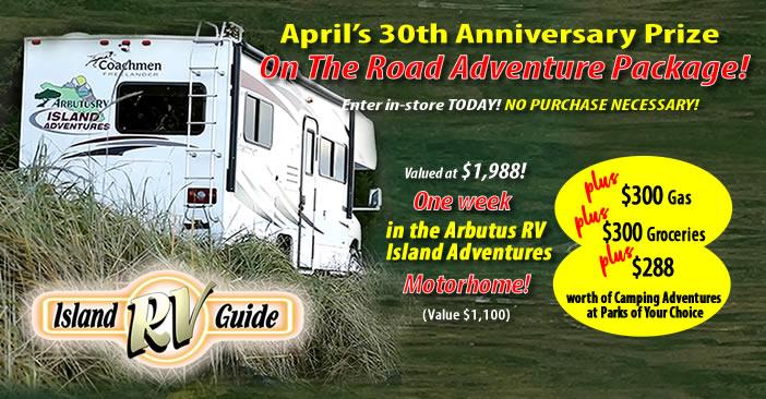 April On-The-Road Adventure Contest! - Island RV Guide