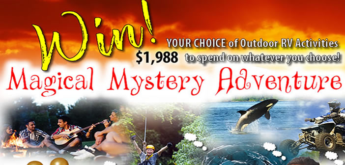 This July Win YOUR CHOICE of Outdoor RV Adventures!