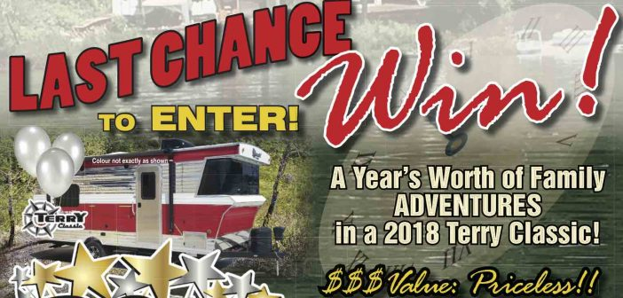 Last Chance! WIN a YEAR's Worth of Arbutus RV Adventures!