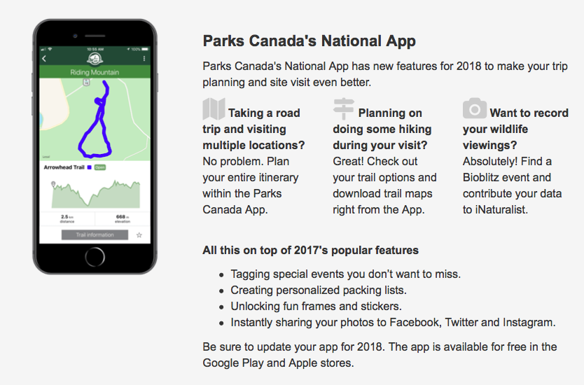 Parks Canada Fan? We've got an App for that! - Island RV Guide