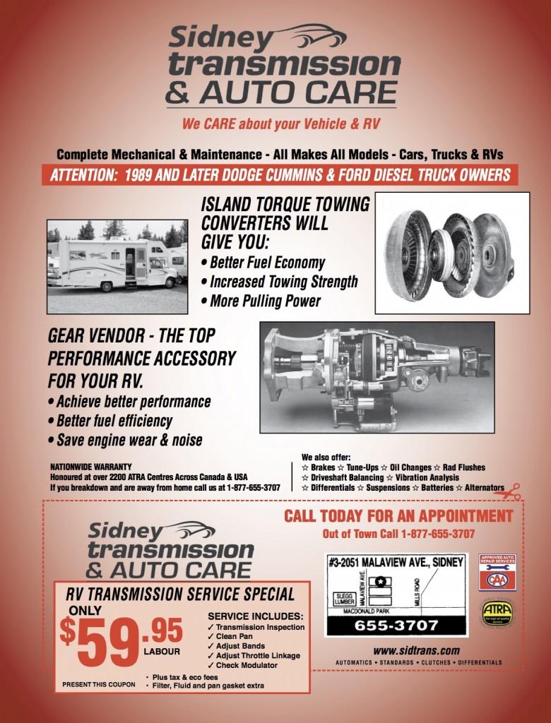 Sidney Transmission ad